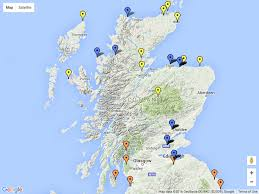 This map which shows the best places in Scotland to see the