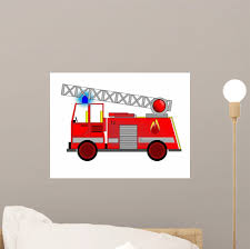 100 Fire Truck Wall Decals Engine Decal Sticker Monkeys Peel Stick Vinyl