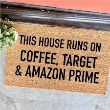Coffee Target And Amazon Prime Doormat 18x30