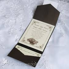 Rustic Tree Pocket Wedding Invitations IWPS092