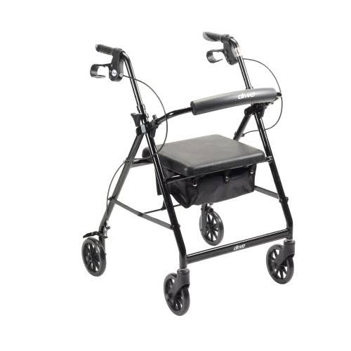 McKesson - 4 Wheel Rollator Folding 32 to 37 inch - Black