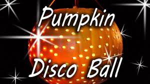 Pumpkin Carving With Drill by Pumpkin Disco Ball Halloween Party Youtube