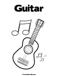 Praising Jesus With The Guitar Coloring Page