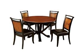 Furniture Of America Sahrifa 5-Piece Duotone Round Dining Table Set, Acacia  And Black Finish Table Round Kitchen Sets For 6 Solid Wood Small And Chairs The Nook A Casual Kitchen Ding Solution From Kincaid Fniture 1990s Mission Stickley Oak Ding Nottingham Rustic Black Room Set Enchanting Argos Charming Podge 5 Pc Kngs Brand Metal Dnng Blank Slate Coffee Buy Online At Overstock Our Best Antique Classic Single Pedestal By Intercon Wayside