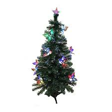 Northlight 4 Ft Pre Lit Whimsical Slim Artificial Christmas Tree With Color Changing Fiber