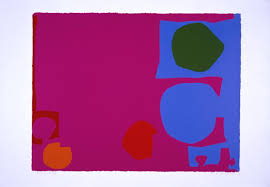 Patrick Heron Three Reds In Magenta And Green Blue April 1970