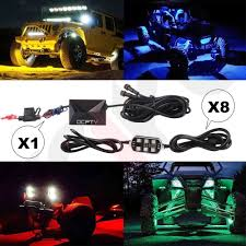 8 PODS RGB LED Rock Lights Kit For Jeep Off Road Truck Boat ... Hella Full Led Rear Combination Lamp Youtube Xyivyg 240 Truck Car Police Strobe Flash Light Dash Emergency 7 4 Inch 12 Volt Round Led Trailer Tail Lights Buy Amazoncom Waterproof 60 Red White Tailgate Strip Bar 2 Inch Fire Lightbars Sirens X Smart Rgb Bed W Soundactivated Function 8 Steps With Pictures Recon Xtreme Scanning 26416x Race Sport Rsl20bedw 20 Rock Kits 6 Pods For Jeep Off Road Rs4plbed