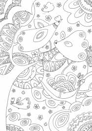 Click To See Printable Version Of Trees And Birds Coloring Page
