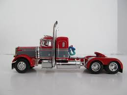 Dcp 1/64 Scale 379 Peterbilt Small Bunk (day Cab Opt) Red W Gray ...