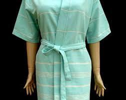 Womens Turquoise Green Soft Light Weight Cotton Kimono Bathrobe Bridesmaid Robe Dressing Gown Spa Swimming Maternity