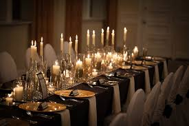 Impressive Black And Gold Table Decorations Wedding Centerpieces
