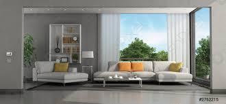 foto auf lager wohnzimmer einer modernen villa