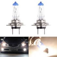2x h7 halogen 100w 12v car headlight fog light bulbs drl
