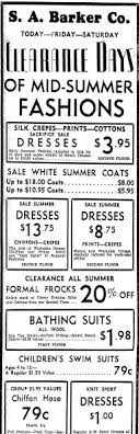 Ad For Summer Clothes Daily Illinois State Journal Newspaper Article 20 July 1933