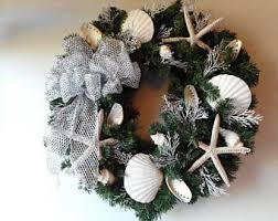 Seashell Christmas Tree Garland by Seashell Christmas Etsy
