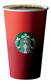 36 Red Coffee Cups Starbucks Clipart