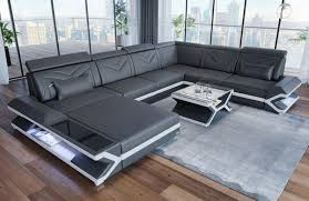 100 Modern Couches XL Modern Sofa San Francisco Modern With Lighting In Leather