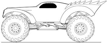 Coloring Page Monster Truck Transportation 25