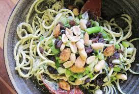 Bigs Pumpkin Seeds Nutrition by Raw Zucchini Pasta With Pumpkin Seeds And Garlic Vegan One