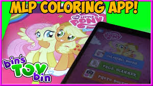 My Little Pony Paper To Digital Coloring Book App From Painting Lulu Review By Bins Toy Bin