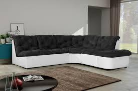 canape d angle noir et blanc canapé d angle modulable en tissu noir blanc daniela canapé d