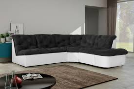 canapé tissu noir canapé d angle modulable en tissu noir blanc daniela canapé d