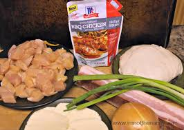 BBQ Chicken Bacon Pizza Ingredients Via Im Not The Nanny