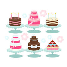 Cake clipart cakes bakery cupcakes birthday candles pink brown