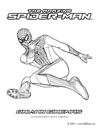 The Amazing Spidey Climbing Spider Man Coloring Page For Kids