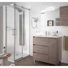 badezimmer badmöbel auf dem boden 85 cm aus eiche eternity holz mit porzellan waschtisch standard 85 cm