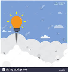 Creative Light Bulb With Blue Sky Background Design For Poster Flyer Cover Brochureleader And Education Concept Business Idea