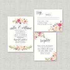 Watercolor Boho Wedding Invitation Suite DEPOSIT