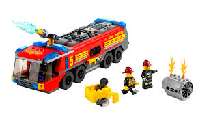 LEGO City Airport Fire Truck - Byrnes Online Custom Lego City Pumper Truck Made From Chassis Of 60107 Fire Amazoncom Lego City Airport Truck With Two Minifigures City 4208 Amazoncouk Toys Games Airport Fire Truck 60061 Youtube Ideas Classic Seagrave Engine For Wwwchrebrickscom By Orion Pax Light Sound Ladder Lego 7239 I Brick Emergency At Toystop Toysrus Fire Shodans Blog