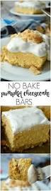 Pumpkin Pie Without Crust And Sugar by No Bake Pumpkin Cheesecake Bars Sugar Dish Me