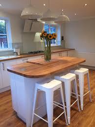 White Gloss Kitchen Design Ideas by White Gloss Kitchen With Oak Worktop Home Ideas Pinterest