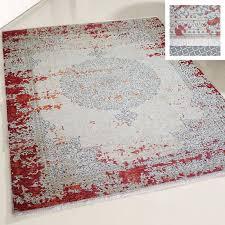 teppich waschbar weinrot vintage 1900dr 120x120 cm rund