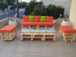 Wooden Pallet Patio Furniture Plans by Patio Furniture From Pallet Wood Recycled Things