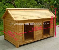 Wood Double Dog Kennel Outdoor Large House For Two