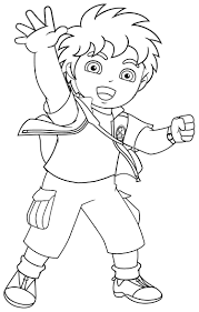 Diego Coloring Pages Free Printable For Kids Book