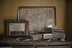 Valuables Collect Dust Inside The Abandoned Farmhouse Including This Daily Mail Souvenir War Map
