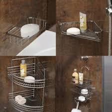 details zu rost beständig chrom draht badezimmer dusche eckseifenkorb gestell halter regale
