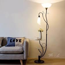 moderne blume le regal stehenden le boden kreative wohnzimmer le stand führte studie schlafzimmer licht neben boden le leuchte