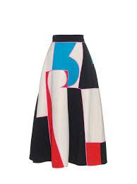 roksanda amara colour block a line midi skirt lyst