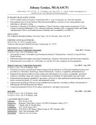 Free Sample Resume For Medical Lab Technician Entry Level Download