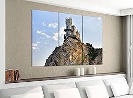 de acrylglasbilder 3 teilig 120x100cm burg klippe