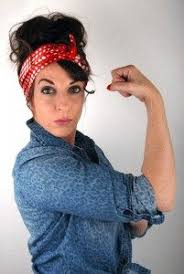 Rosie The Riveter Halloween Tutorial by My Halloween Costume Rosie The Riveter Victory Roll Pinup Hair
