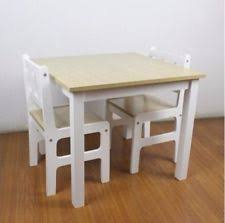 Crayola Wooden Table And Chair Set Uk by Children U0027s Solid Wood Tables And Chairs Ebay