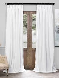 108 Inch Blackout Curtains White by Signature Off White Pleated Blackout Velvet Curtain Pleated