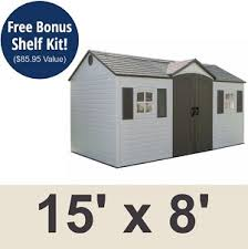 lifetime products 6446 side entry outdoor garden storage shed