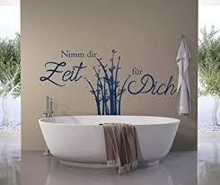 tjapalo a198 wandtattoo nimm dir zeit für dich wandsticker bad wandaufkleber sauna wandtattoo badezimmer bambus farbe hellbraun größe b120xh58cm